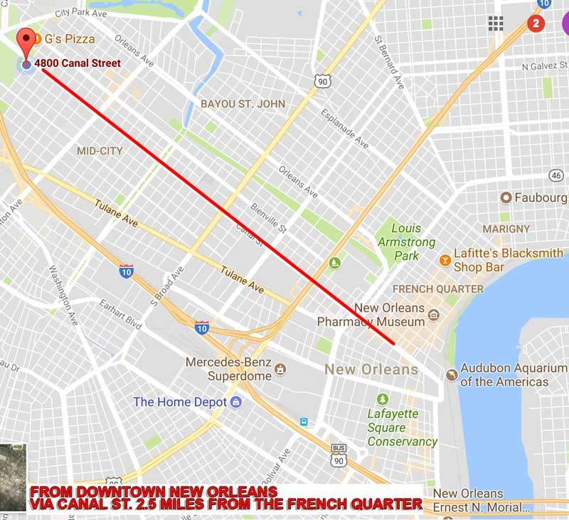 Directions to New Orleans The Mortuary Haunted House